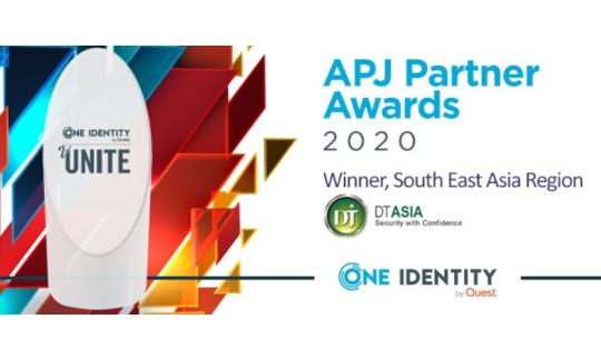 DT Asia wins One Identity APJ Partner Award 2020